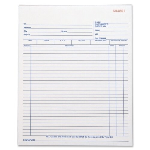Business Source 50 Sheet All-Purpose Triplicate Form Book