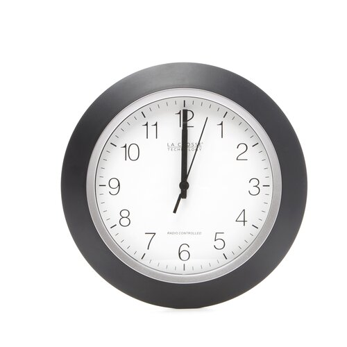 "La Crosse Technology Analog Atomic 10"" Wall Clock"