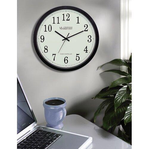 """La Crosse Technology Analog Classic Atomic 14"""" Wall Clock"""