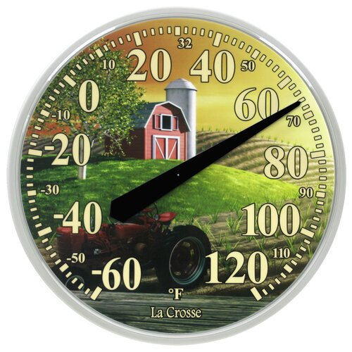 "La Crosse Technology 13.5"" Farm Thermometer Wall Clock"