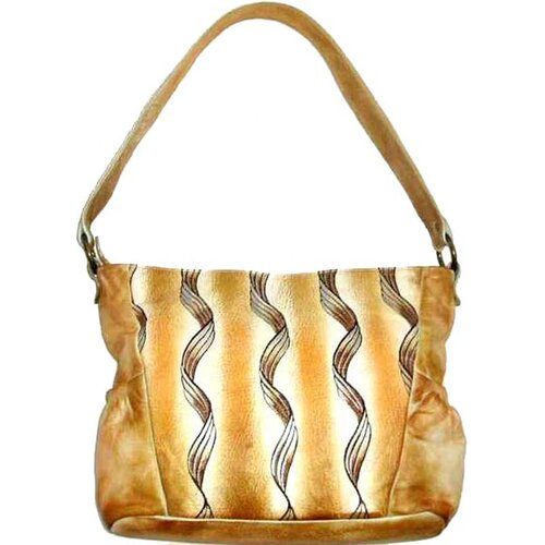 Genuine Leather Printed Tote Bag