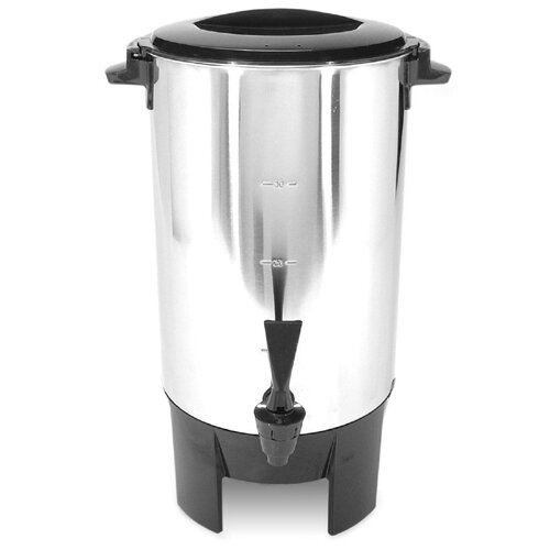"""CoffeePro 30 Cup Urn, w/ Filter Basket, 10""""x10""""x15"""", 3 Prong, STST"""