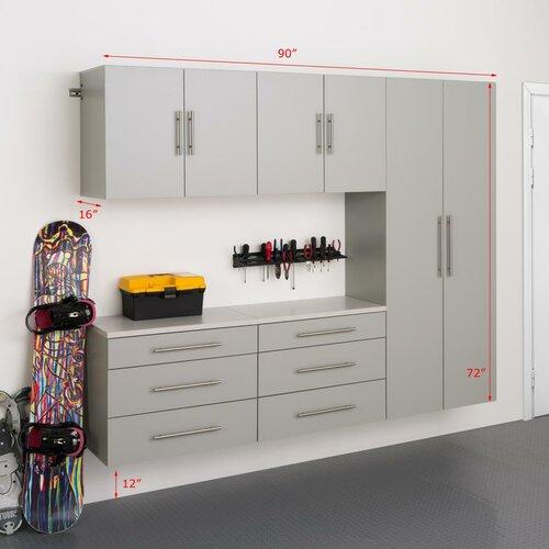 HangUps 6' H x 7.5' W x 1.33' D 5 Piece Storage Cabinet H Set ...