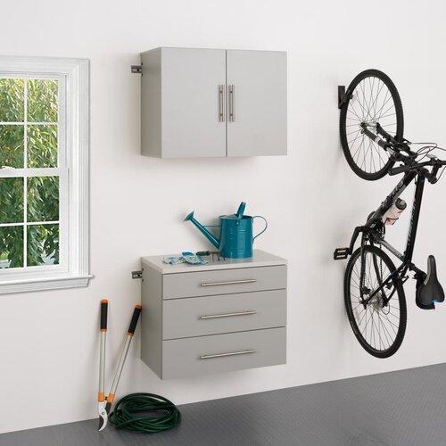 HangUps 6' H x 2.5' W x 1.33' D 2 Piece Storage Cabinet A Set ...