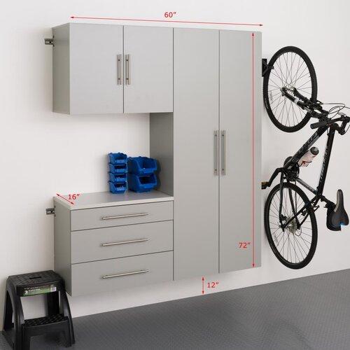 HangUps 6' H x 5' W x 1.33' D 3 Piece Storage Cabinet B Set ...