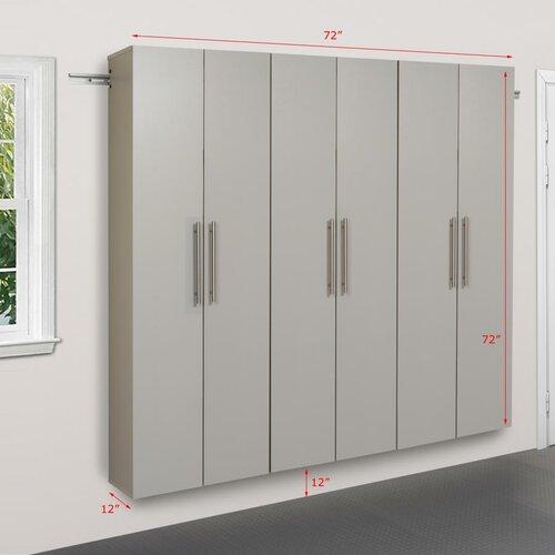 HangUps 6' H x 6' W x 1.33' D 3 Piece Storage Cabinet C Set ...