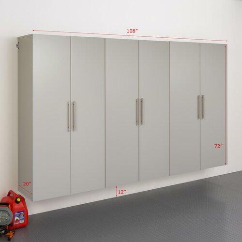 HangUps 6' H x 9' W x 1.67' D 3 Piece Storage Cabinet E Set ...