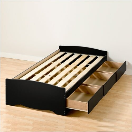 Prepac Sonoma Twin XL Platform Storage Bed