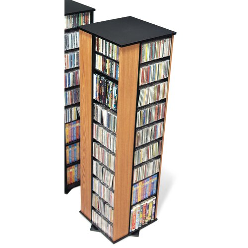 Prepac Deluxe Spinning 4-Sided Multimedia Revolving Tower