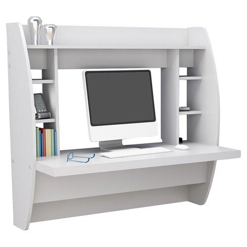 prepac floating writing desk with storage reviews wayfair. Black Bedroom Furniture Sets. Home Design Ideas