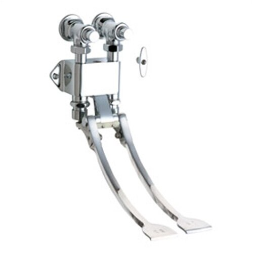 Chicago Faucets 834 Wall Mount Double Pedal Self-Closing Valve in Chrome