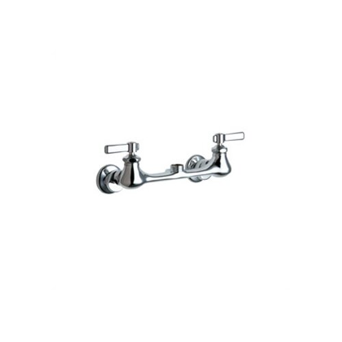 Chicago Faucets 540 Double Handle Wall Mounted Kitchen Faucet Without Spout
