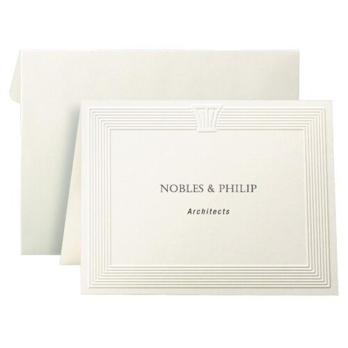 """First-Base Note Cards,2 Per Page,Fold to 4-1/4""""x5-1/2,40 Cards/40 Env."""