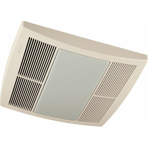 2 Bulb 80 Cfm Ceiling Bathroom Exhaust Fan With Light And: Broan 80 CFM Energy Star Bathroom Fan With Heater And