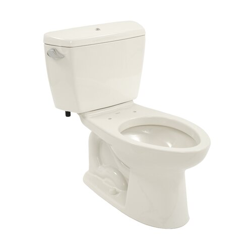 Drake 1.6 GPF Elongated 2 Piece Toilet with Bolt Down Lid with E-Max Flush and ...