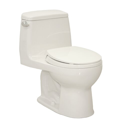 Toto UltraMax Eco 1.28 GPF Round 1 Piece Toilet with SoftClose Seat