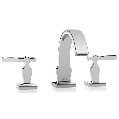 Aimes Double Handle Widespread Bathroom Faucet