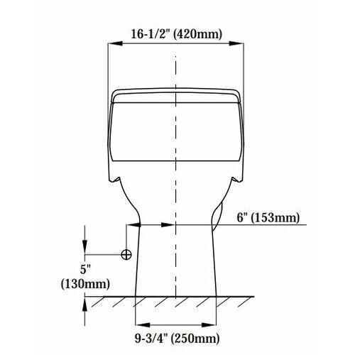Toto Supreme® Eco 1.28 GPF Round 1 Piece Toilet with SoftClose Seat