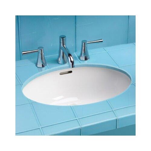 "Toto ADA Compliant 21.63"" Rimless Undermount Bathroom Sink with SanaGloss Glazing"