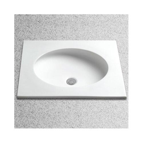 Curva Self Rimming Bathroom Sink with Overflow