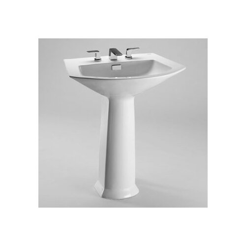 "Toto Soiree 25.125"" Pedestal Bathroom Sink"