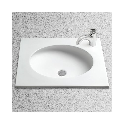 Curva Self Rimming Bathroom Sink