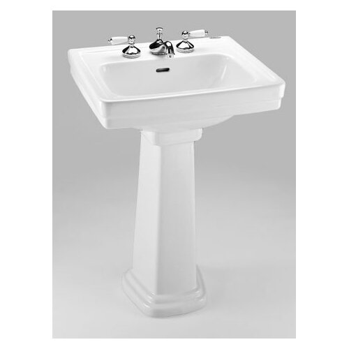 Toto Promenade 24 Pedestal Bathroom Sink With Deep Bowl