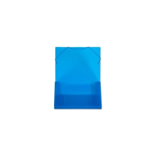 """Lion Office Products Translucent Document Files, 1"""" Capacity, 13""""x1""""x9-3/4"""", Blue/Clear"""