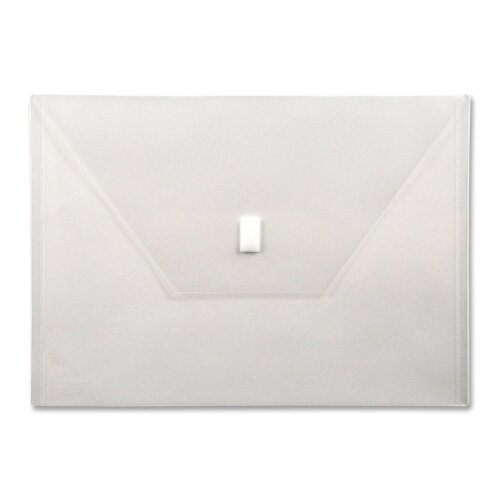 "Lion Office Products Poly Envelope,Hook and Loop Closure,13""x9-3/8"", Clear"