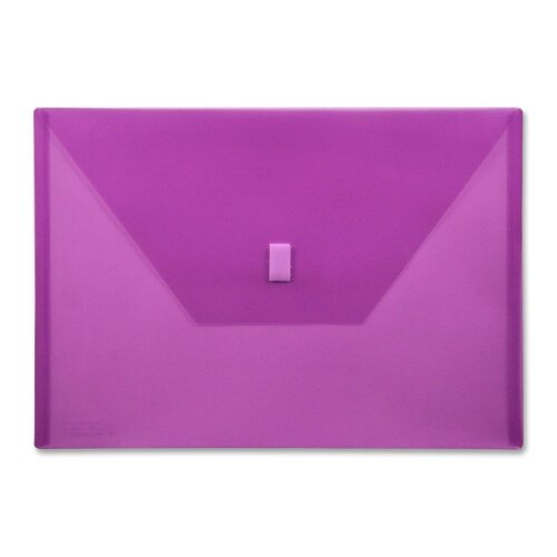 "Lion Office Products Poly Envelope,Hook and Loop Closure,13""x9-3/8"", Purple"