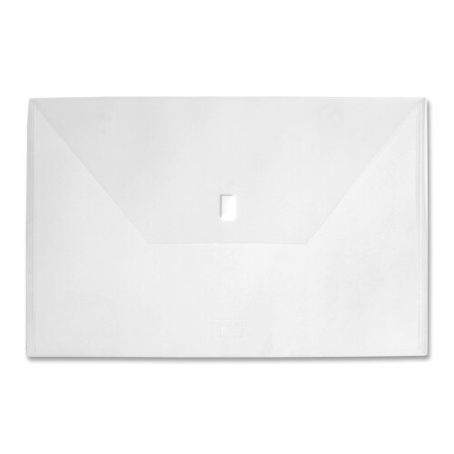 """Lion Office Products Project Folders, w/ Hook and Loop, 11""""x17"""", Clear"""