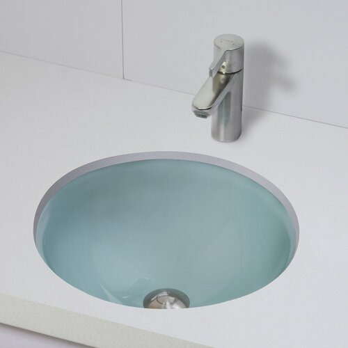 Translucence Round 12mm Glass Undermount Bathroom Sink