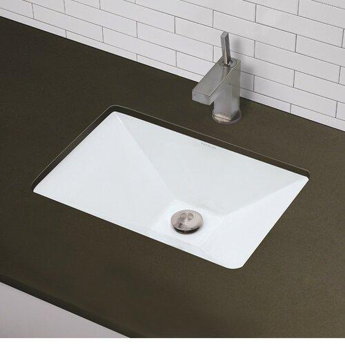 Classically Redefined Pyramidal Undermount Bathroom Sink