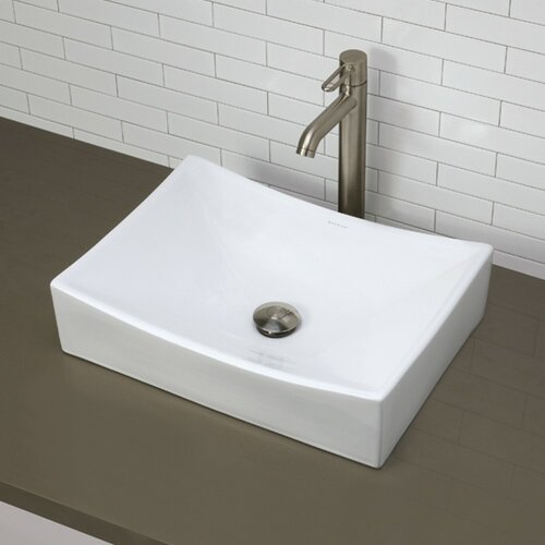 Classically Redefined Rectangular Vessel Bathroom Sink