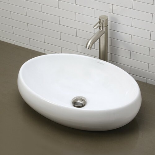 Classically Redefined Oval Vessel Bathroom Sink