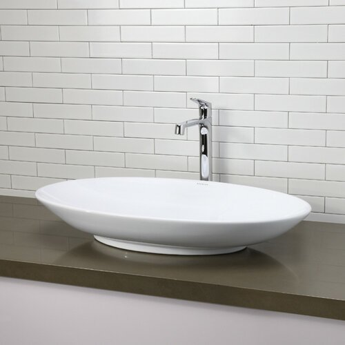 Decolav Sinks : DecoLav Classically Redefined Oval Vessel Bathroom Sink & Reviews ...