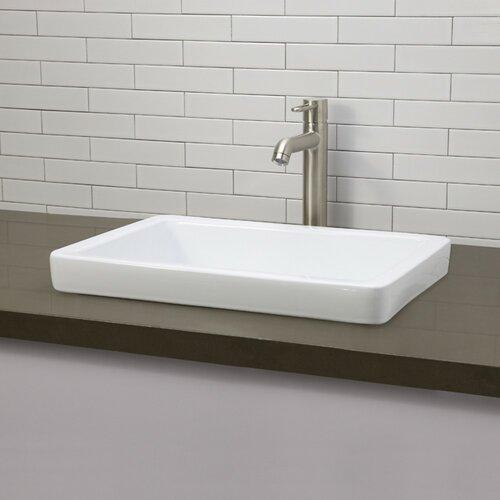 DecoLav Classically Redefined Semi-Recessed Bathroom Sink