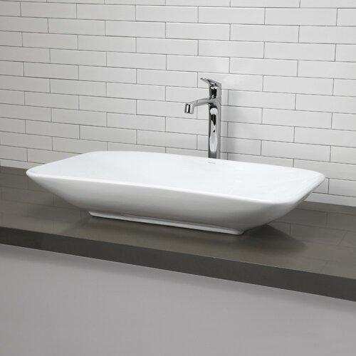 ... Redefined Rectangular Vessel Bathroom Sink & Reviews Wayfair