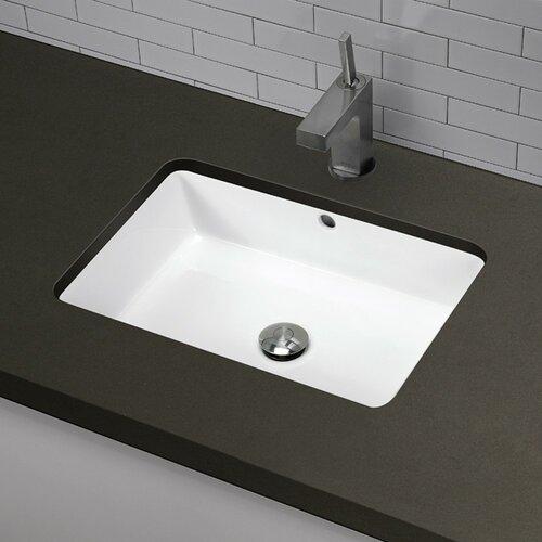 Classically Redefined Rectangular Undermount Bathroom Sink