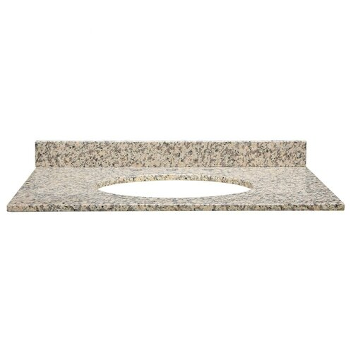 "DecoLav Jordan 31"" x 22"" x 0.75"" Granite Vanity Top with Backsplash"