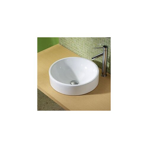 Classically Redefined Round Ceramic Vessel Bathroom Sink
