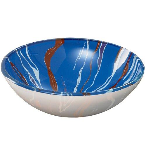 DecoLav Translucence™ Swirl Tempered Glass Vessel Bathroom Sink