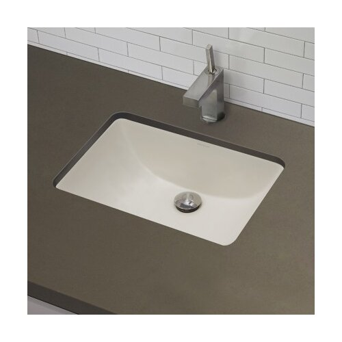 Rectangular Bathroom Sinks Undermount : DecoLav Classic Rectangular Undermount Bathroom Sink with Overflow ...