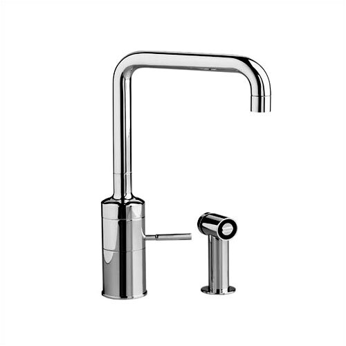 ,IQ One Handle Single Hole Kitchen Faucet with Side Spray
