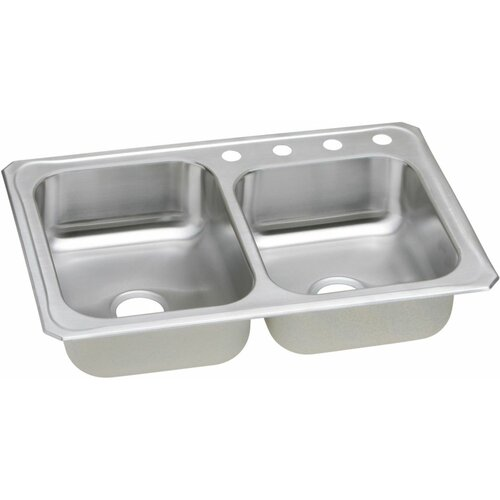 """Elkay Gourmet 33"""" x 22"""" x 7"""" Top Mount Kitchen Sink"""