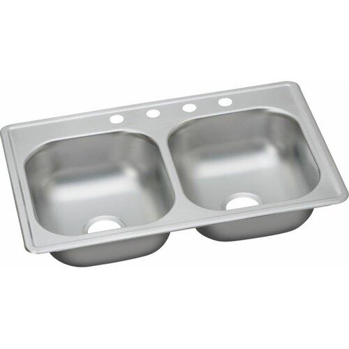 Elkay Dayton 33 X 19 Top Mount Double Kitchen Sink Reviews Wayfair