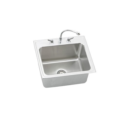 "Elkay Gourmet 25"" x 22"" x 12.13"" Top Mount Kitchen Sink"