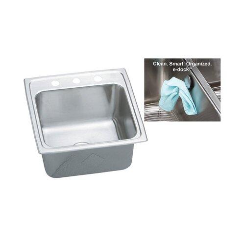 "Elkay Gourmet 19.5"" x 19"" E-Dock Kitchen Sink"