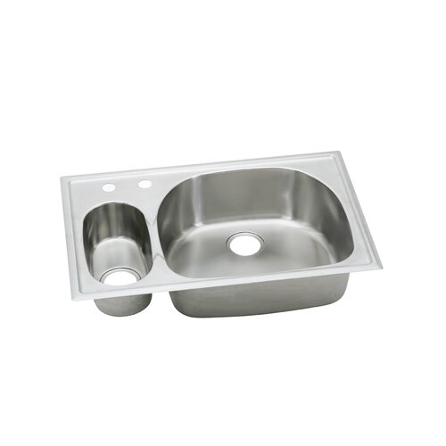 "Elkay Harmony 33"" x 22"" x 6.06 -10"" Top Mount Kitchen Sink"