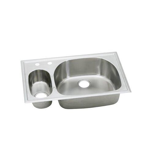 "Elkay Harmony 33"" x 22"" x 6.06 -10"" Top Mount Kitchen Sink"